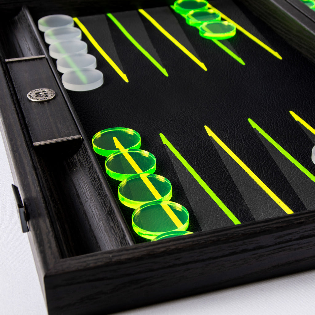 FLUO GREEN UV Backgammon