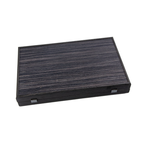 BLACK OAK with SILVER STRIPES Backgammon