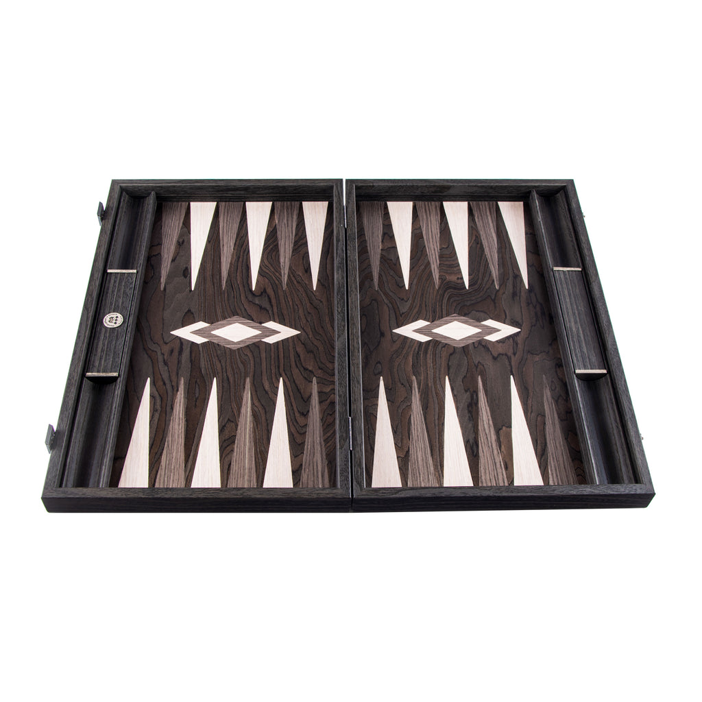 Ebony Burl Backgammon