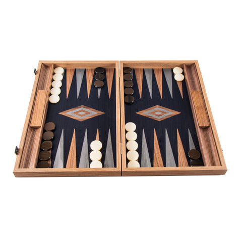 American Walnut with black Oak Backgammon