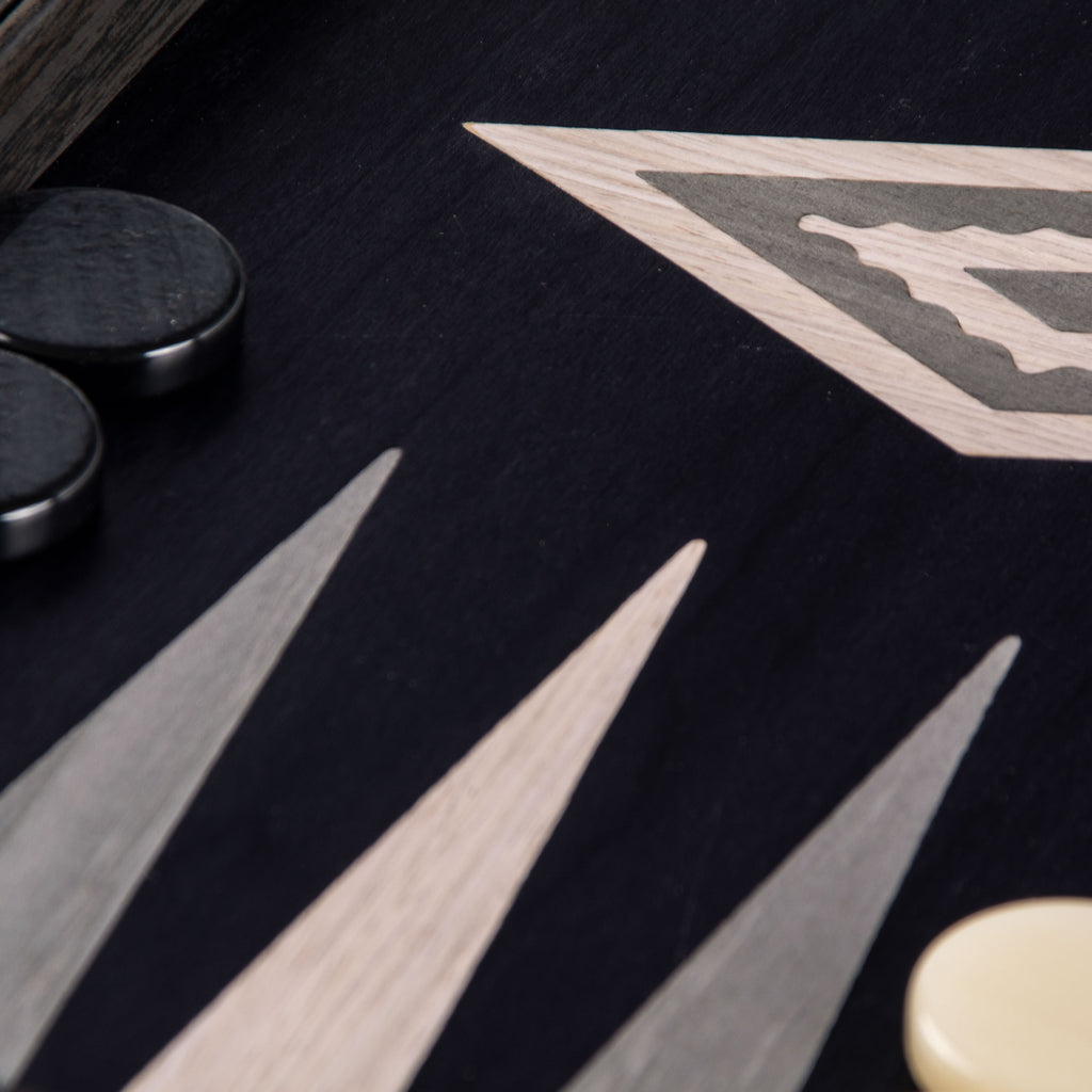 PEARLY GREY VAVONA Backgammon