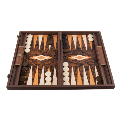 California Walnut Burl Backgammon