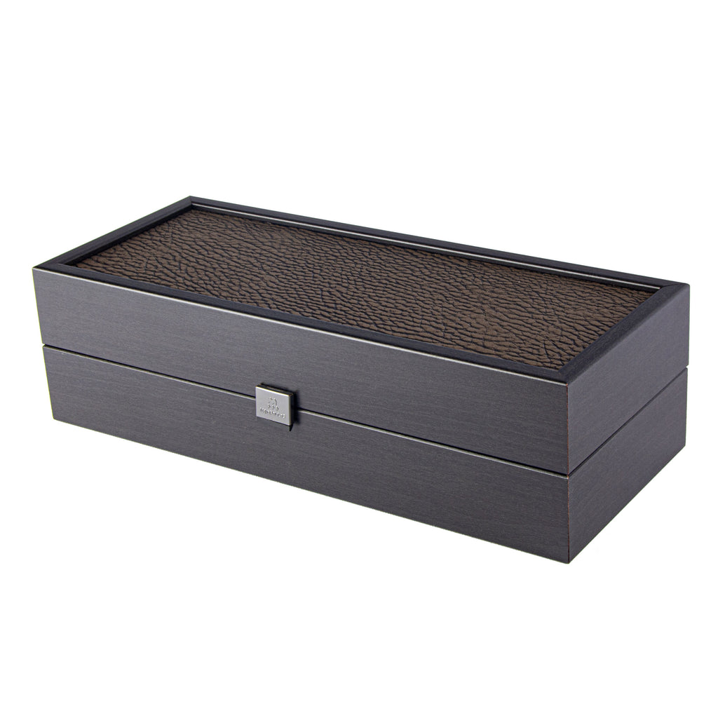 BLACK WINE BOX with Leatherette top