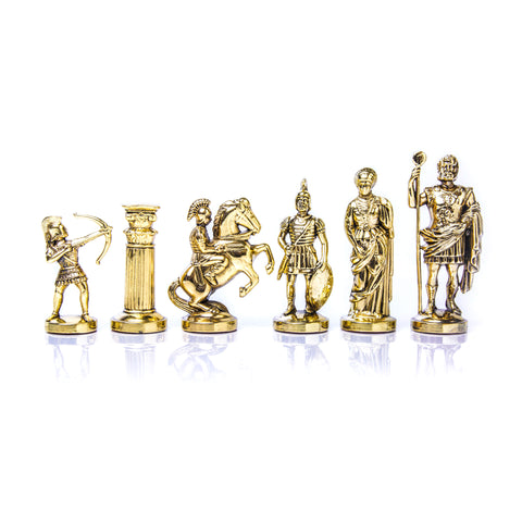 ARCHERS Chessmen  (Large) - Gold/Silver