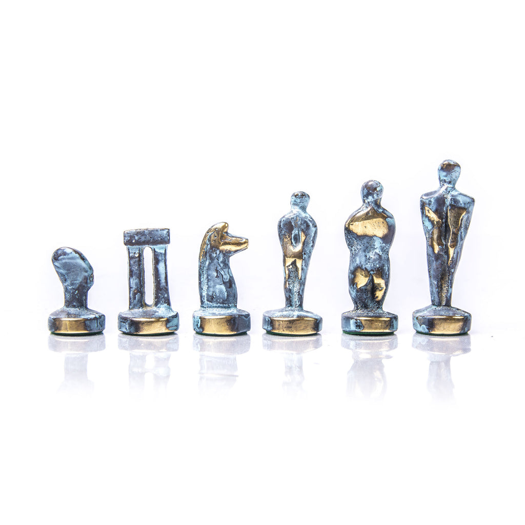 CYCLADIC ART Chessmen (Small) - Blue/Brown