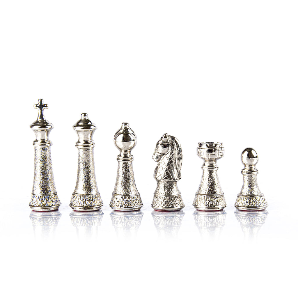 CLASSIC METAL STAUNTON Chessmen  (Large) - Gold/Silver