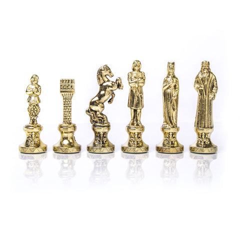 RENAISSANCE Chessmen  (Medium) - Gold/Silver