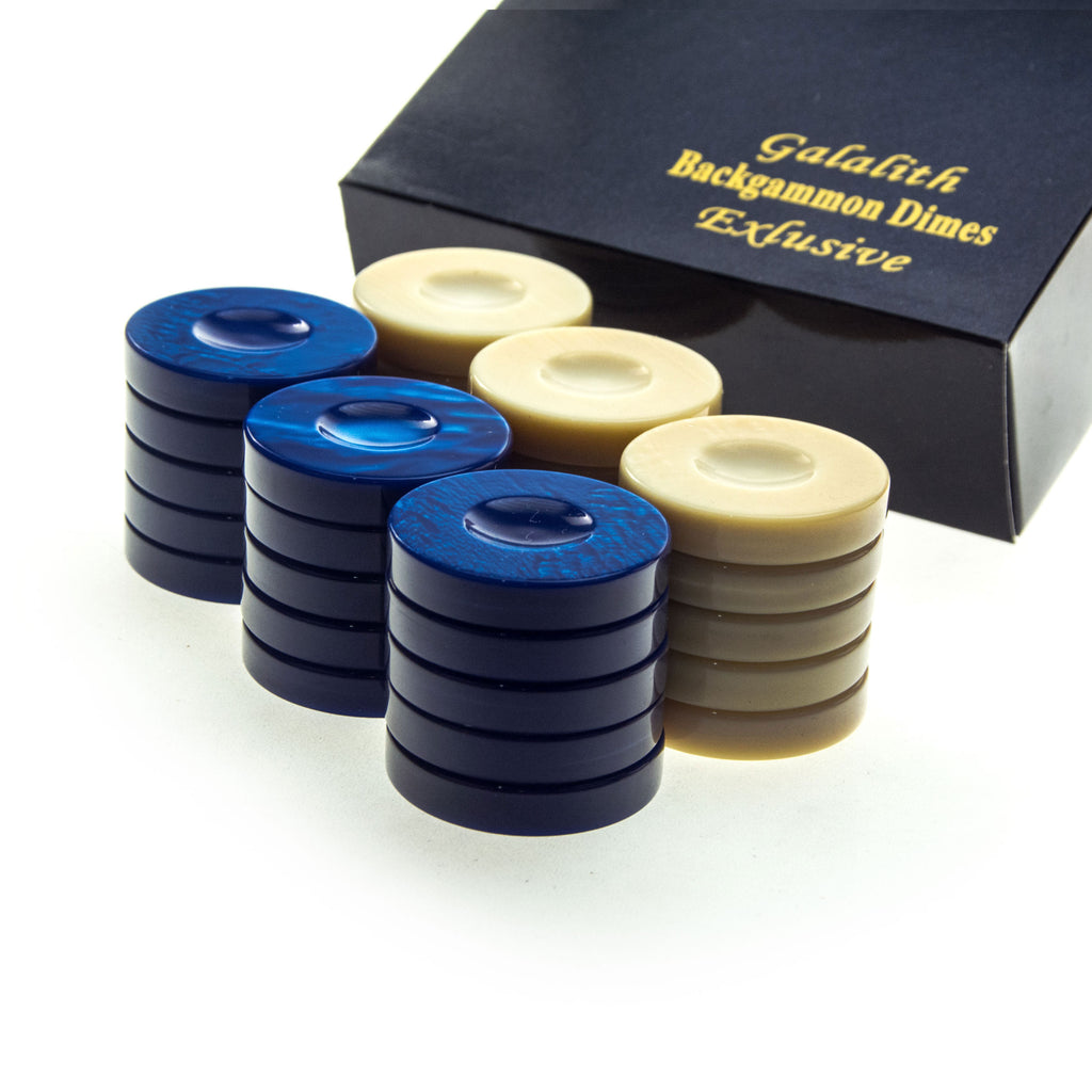 GALALITH CHECKERS in blue color