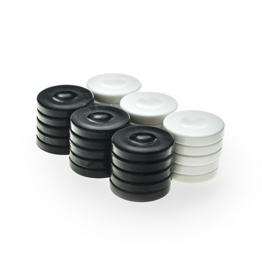 PLASTIC CHECKERS in black color
