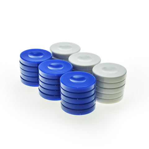 PLASTIC CHECKERS in blue color