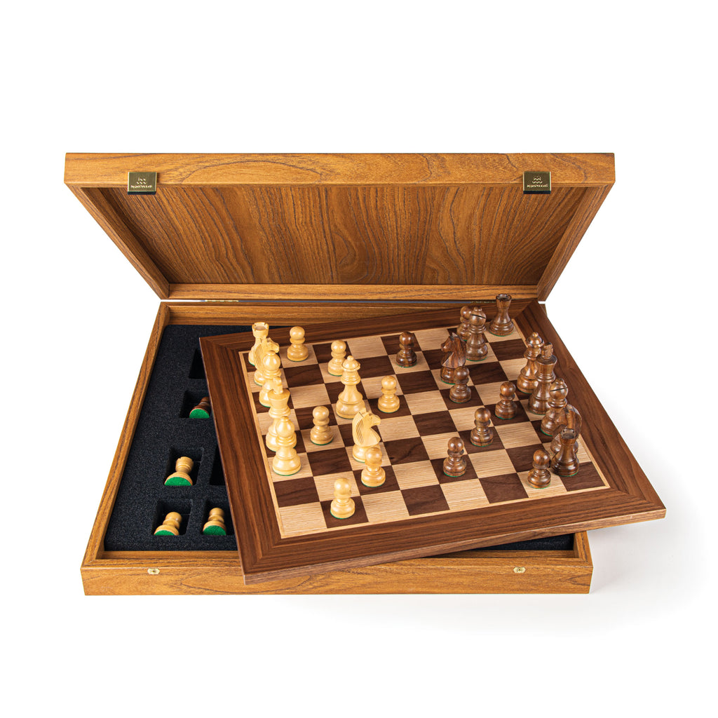 WALNUT Chess set 50x50cm (Large) with Staunton Chessmen 9.5cm King