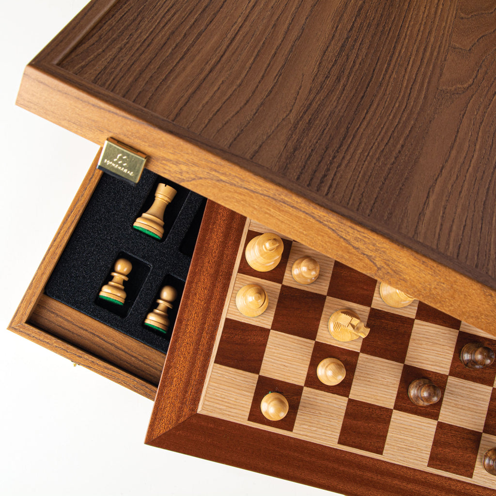 MAHOGANY Chess set 40x40cm (Medium) with Staunton Chessmen 8.5cm King
