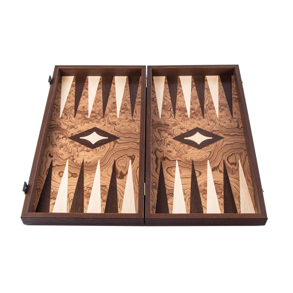 Handcrafted Premium Backgammon - Walnut Burl