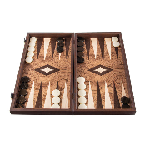 WALNUT BURL Backgammon