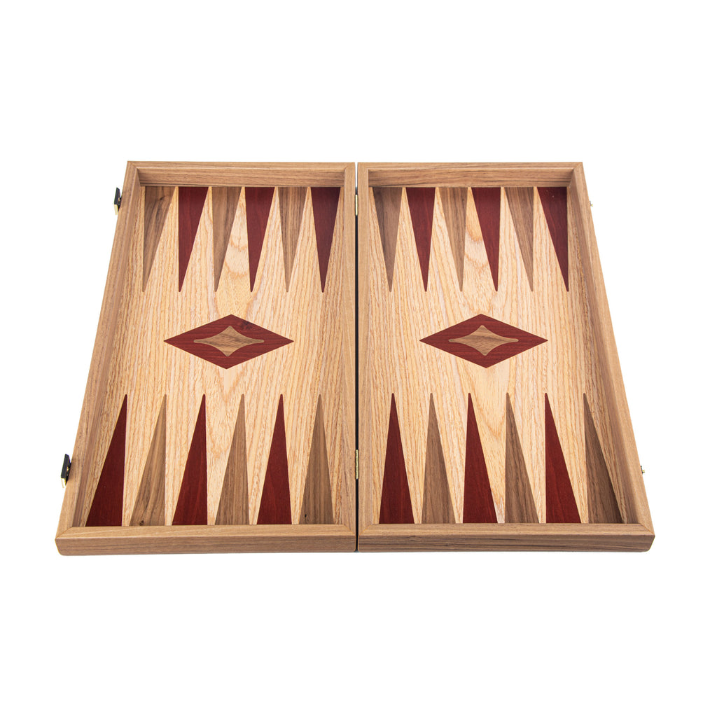 OAK & AMERICAN WALNUT Backgammon