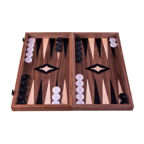 Handcrafted Classic Backgammon - Walnut