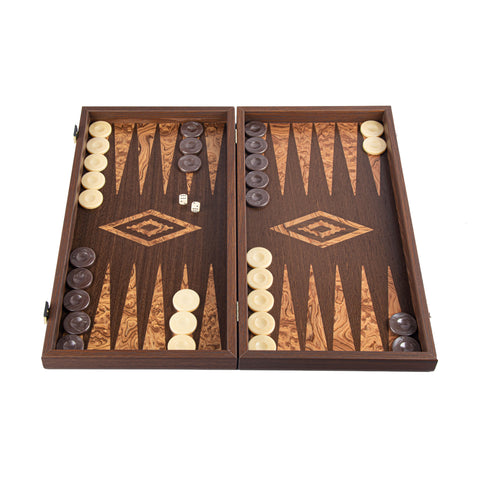 WENGE & WALNUT BURL Backgammon