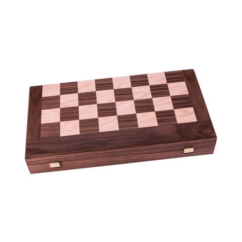 Handcrafted Classic Backgammon - Walnut Chess & Backgammon