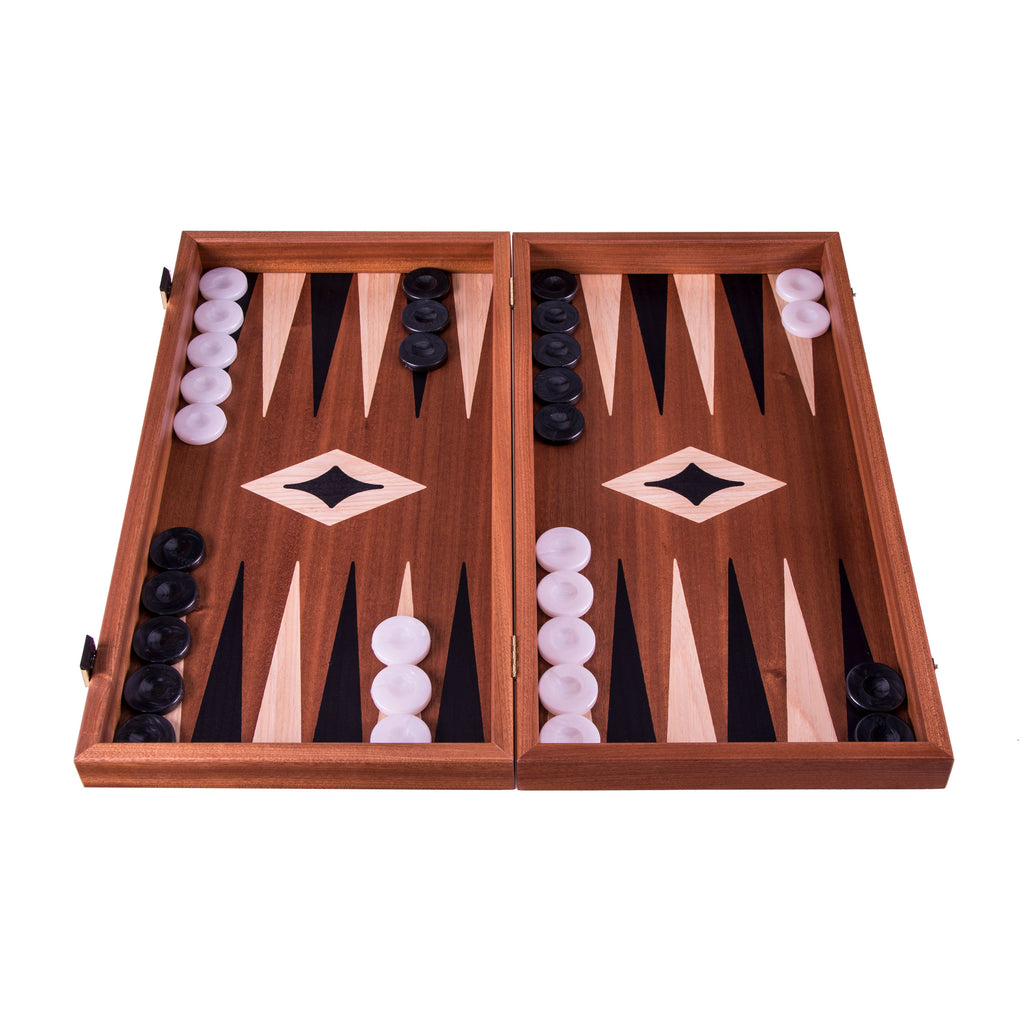 Mahogany Chess & Backgammon Board