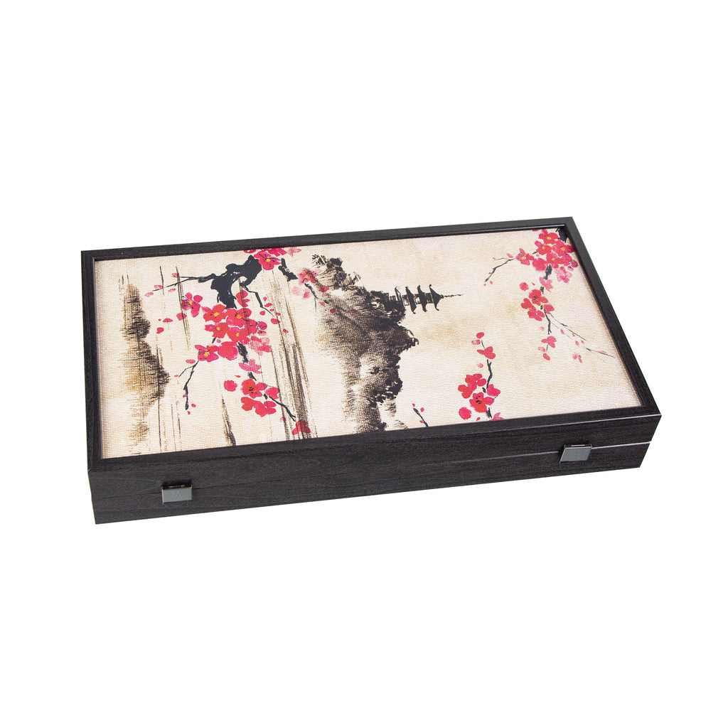 ORIENTAL CHERRY BLOSSOM ART Backgammon