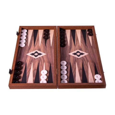 Handcrafted Basic Backgammon -  Walnut replica wood