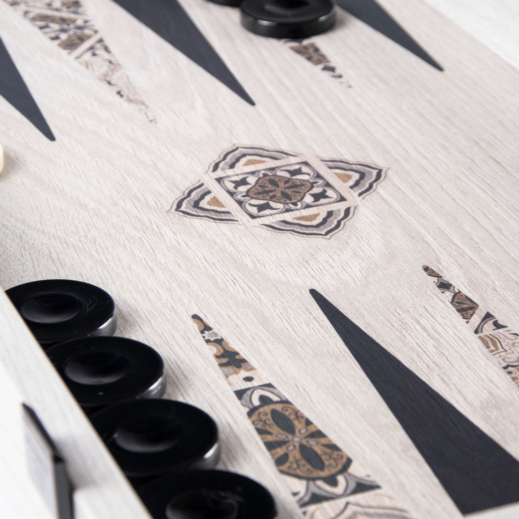 Moroccan mosaic art Backgammon