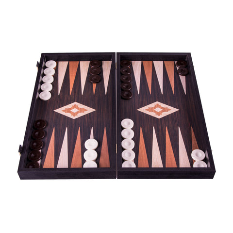 Handcrafted Basic Backgammon - Wenge replica wood