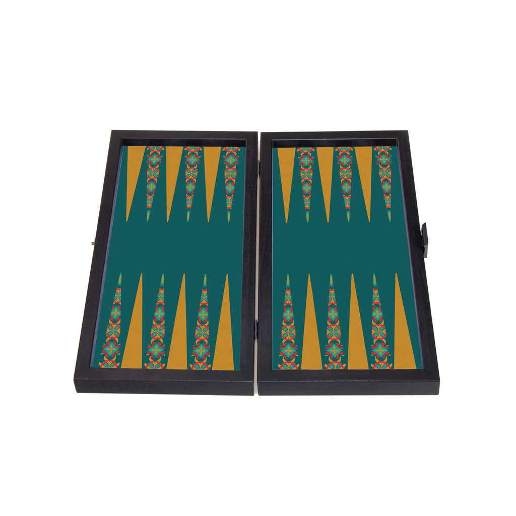 FLORAL - Travel Size Backgammon