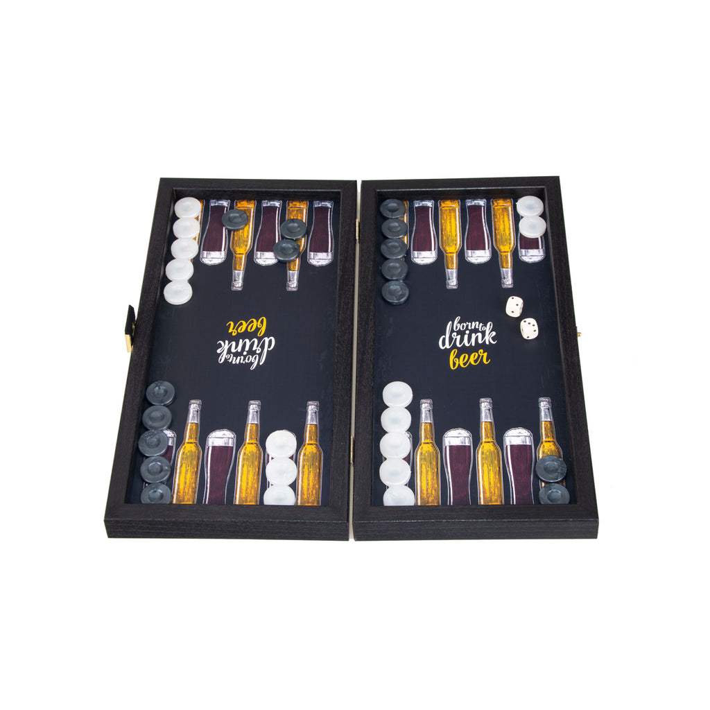 BEER - Travel Size Backgammon