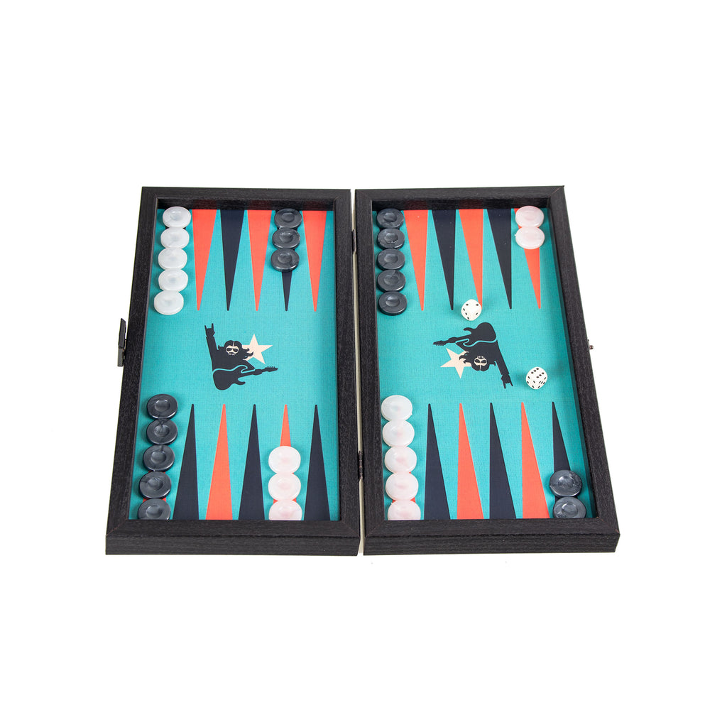 ROCK 'N' ROLL - Travel Size Backgammon