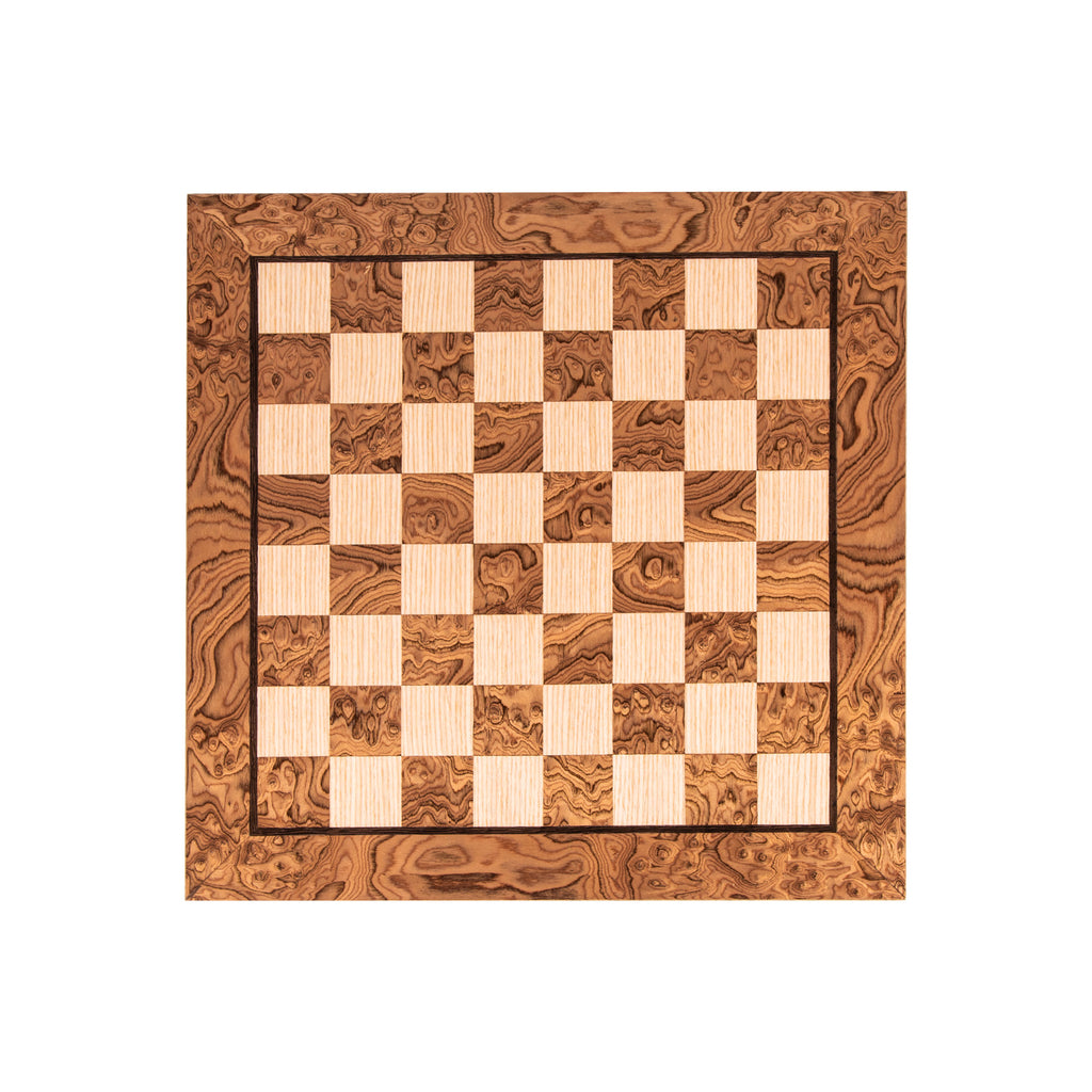 WANLUT BURL & OAK INLAID handcrafted chessboard 40x40cm (Medium)
