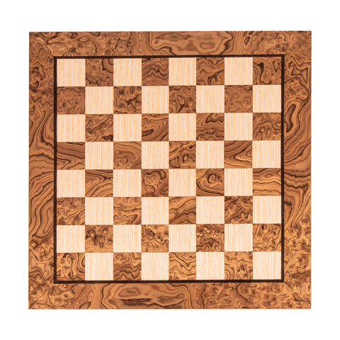 WANLUT BURL & OAK INLAID handcrafted chessboard 50x50cm (Large)