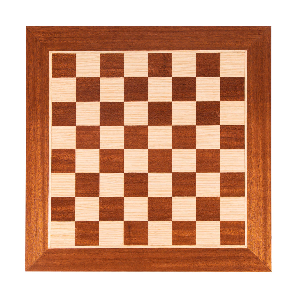 MAHOGANY WOOD & OAK INLAID handcrafted chessboard 50x50cm (Large)
