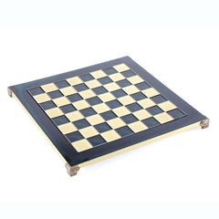 Handcrafted Metallic Chess Board - Classic Brass (Large) green