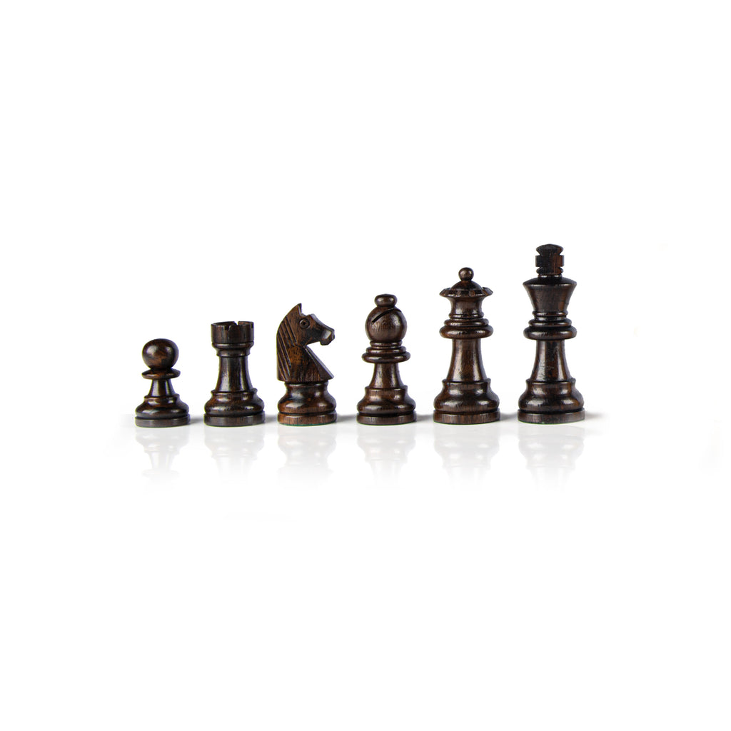 STAUNTON WOODEN CHESSMEN - King's Height 6.5cm
