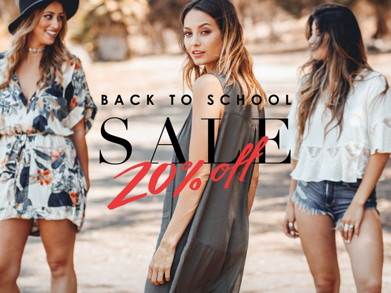 S&F Back To School Sale (20% Off Storewide)