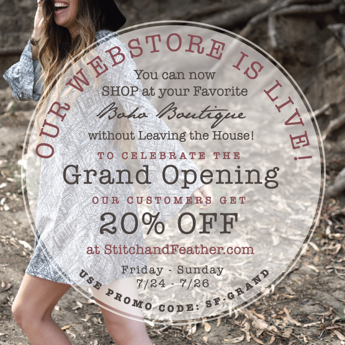 S&F Webstore Grand Opening & Promo Code