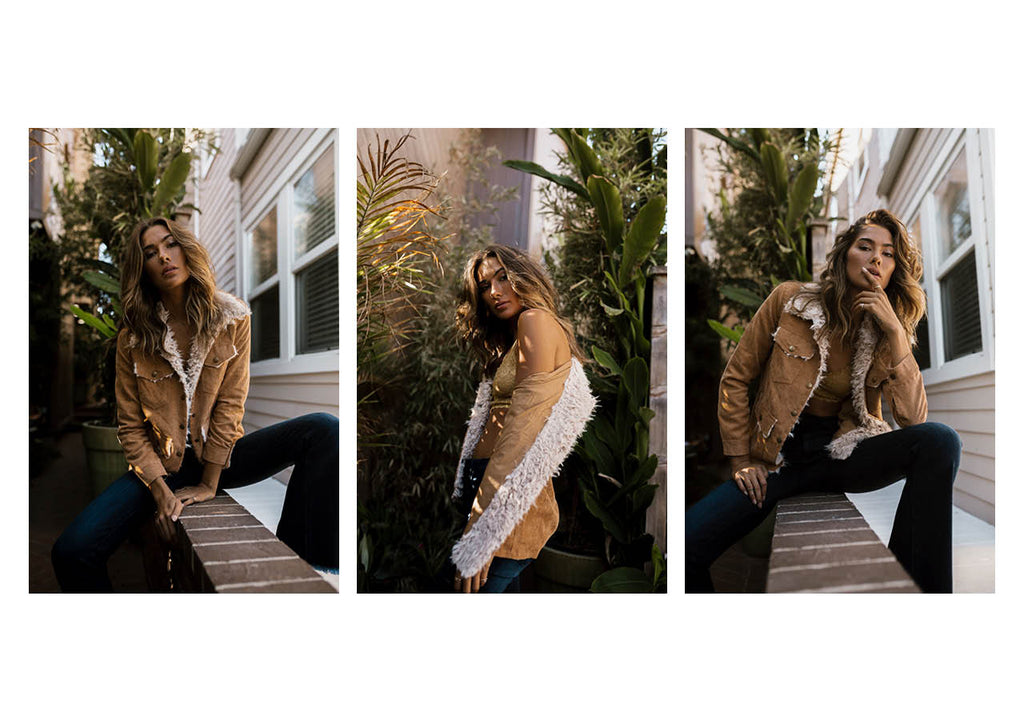 stitch and feather, boho corduroy fur collar jacket
