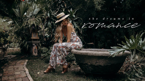 Stitch and Feather's She Dreams in Romance Campaign with Taylor LaShae and Hanna Montazami