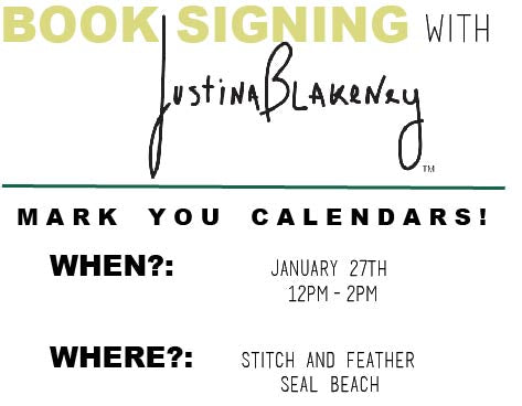 Stitch and Feather, Justina Blakeney, Book Signing, Bohemian Guide