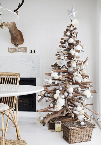 Rustic Winter Christmas Tree