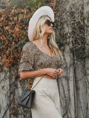 Abbie Leopard Crop Top - Stitch And Feather