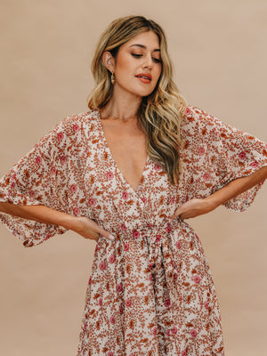 Kimono Sleeve Maxi - Stitch And Feather