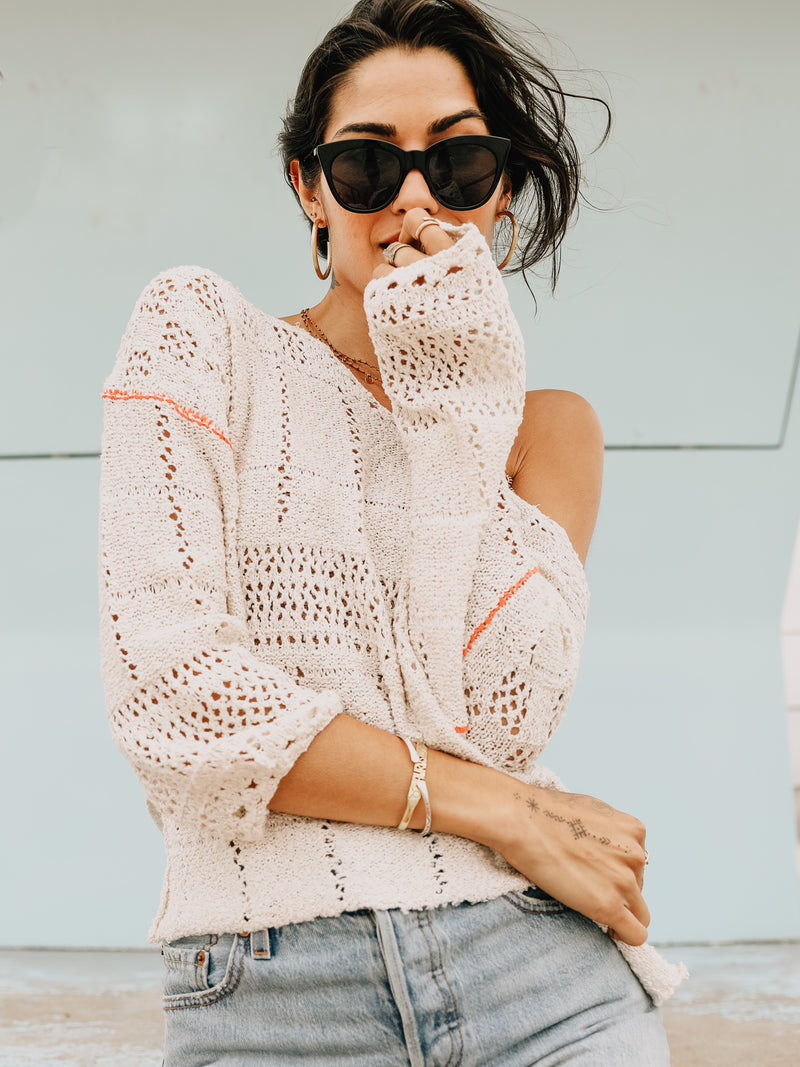 Line in the Sand Sweater - Stitch And Feather