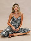Zebra Jumpsuit - Stitch And Feather