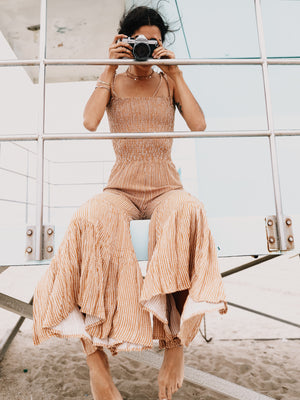 Dream On Tiered Jumpsuit - Stitch And Feather
