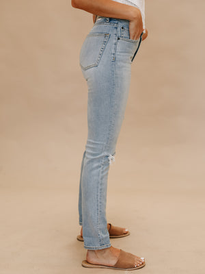 The Zachary Skinny in Blue Angel - Stitch And Feather