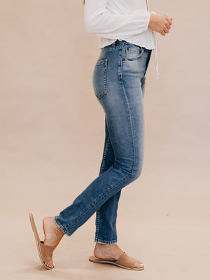 The Zachary Skinny in Best Foot Forward - Stitch And Feather