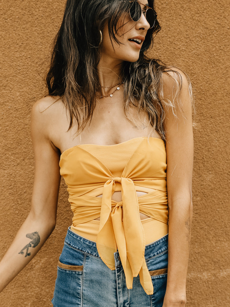 Sunshine Tie Bodysuit - Stitch And Feather