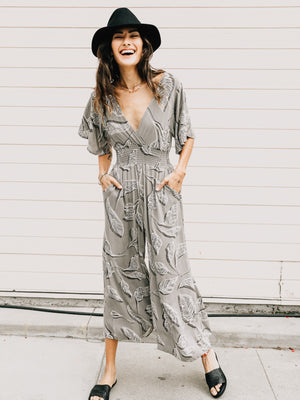 Bayside Back Tie Jumpsuit - Stitch And Feather